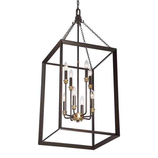 Quoizel Brook Hall 18-in Imperial Silver Transitional Cage Pendant Lighting