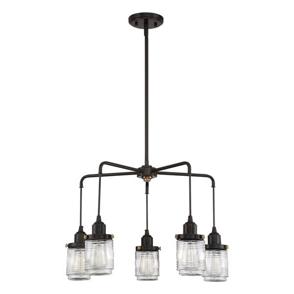 Quoizel Belmont 5-Light Mystic Black Transitional Shaded Chandelier