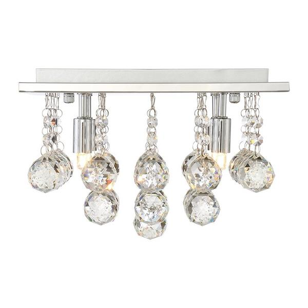 Quoizel Bordeaux 4-Light Polished Chrome 11.75-in x 11.75-in x 8-in Semi-Flush Mount