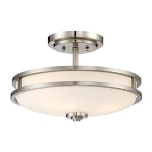 Quoizel Cadet 3-Light Brushed Nickel15-in x 15-in x 9-in Semi-Flush Mount