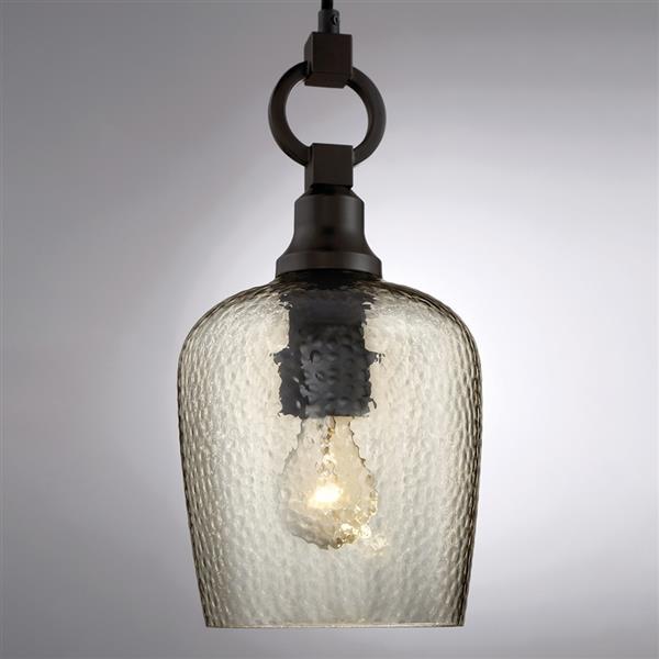 Quoizel Kendrick 7-in Royal Ebony Transitional Bell Mini Pendant Lighting