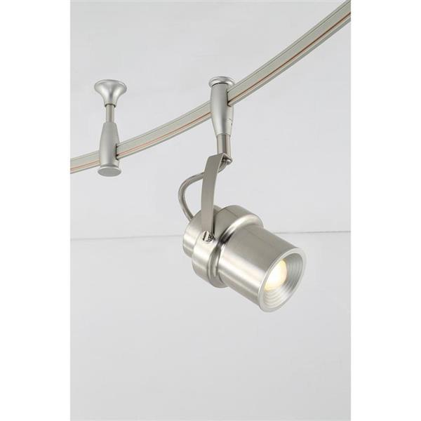 Quoizel Cinema 108-in Brushed Nickel 5-Light Dimmable LED Track Bar Fixed Track Light Kit