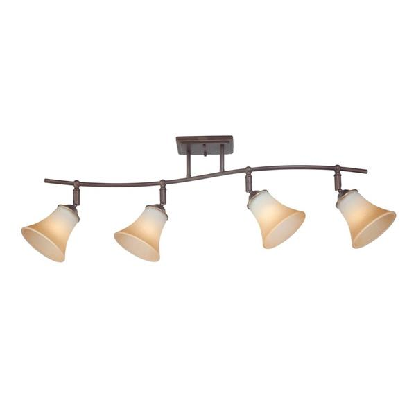 Quoizel Duchess 36-in Palladian Bronze 4-Light Dimmable Track Bar Fixed Track Light Kit