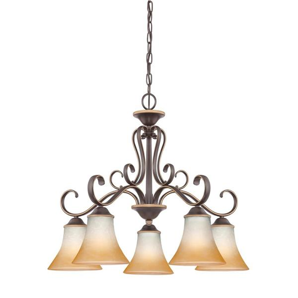 Quoizel Duchess 5-Light Marcado Black Transitional Shaded Chandelier
