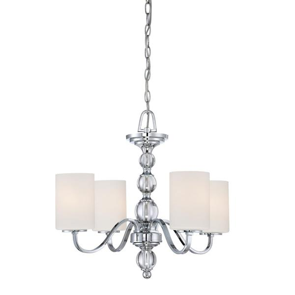 Quoizel Downtown 4-Light Polished Chrome Transitional Shaded Chandelier