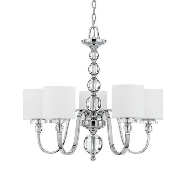 Quoizel Downtown 5-Light Western Bronze Transitional Shaded Chandelier