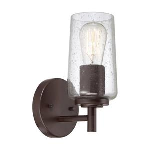 Quoizel Edison 5-in x 10-in Western Bronze 1-Light Cylinder Vanity Light