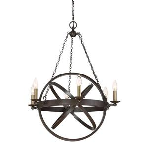 Quoizel Eons 6-Light Darkest Bronze Transitional Globe Chandelier