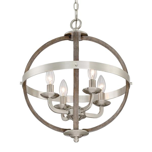 Quoizel Fusion 16.75-in Western Bronze Transitional Globe Cage Pendant Lighting