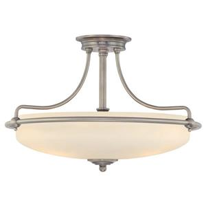 Quoizel Griffin 4-Light Antique Nickel 21-in x 21-in x 14-in Semi-Flush Mount