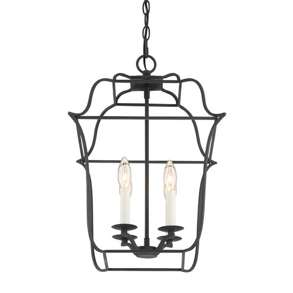 Quoizel Gallery 14-in Classic Grey Traditional Cage Pendant Lighting