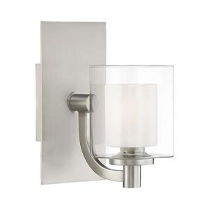 Quoizel Kolt 5-in x 9-in Brushed Nickel 1-Light Cylinder LED Vanity Light