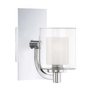 Quoizel Kolt 5-in x 9-in Polished Chrome 1-Light Cylinder LED Vanity Light