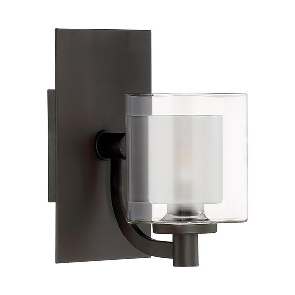 Quoizel Kolt 5-in x 9-in Western Bronze 1-Light Cylinder LED Vanity Light