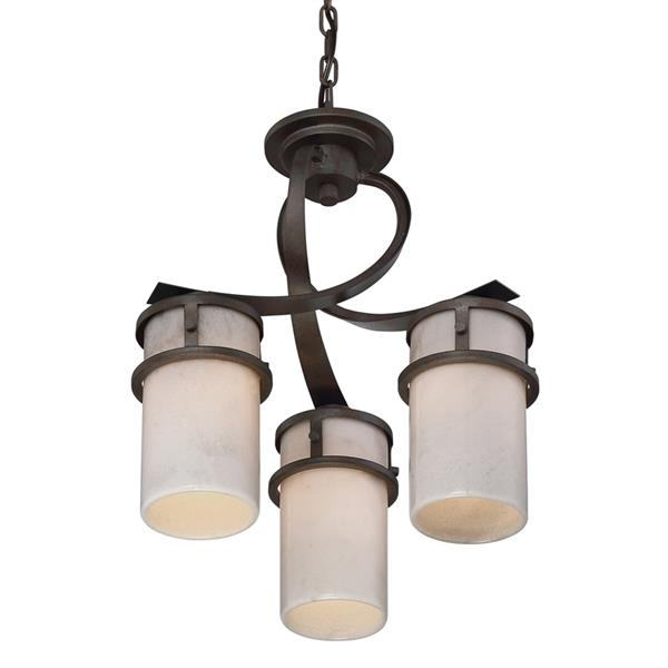 Quoizel Kyle Imperial Silver 3-Light Modern Contemporary Shaded Chandelier