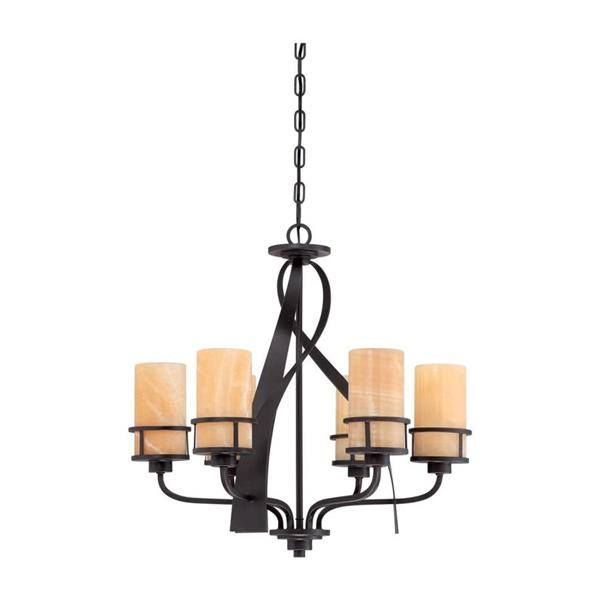 Quoizel Kyle Light Brushed Nickel 6-Light Modern Contemporary Shaded Chandelier