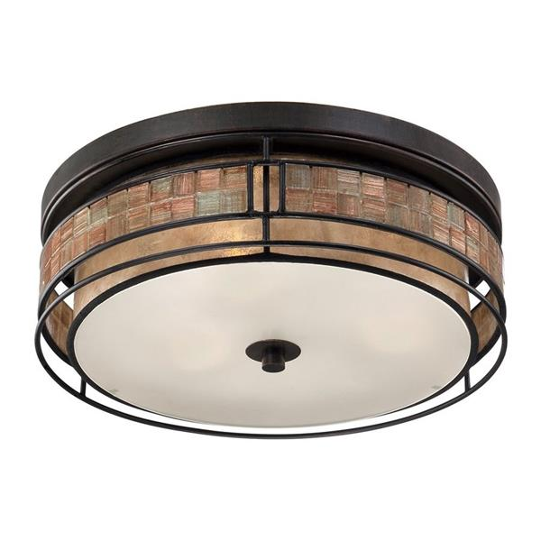 Quoizel 16-in W Renaissance Copper  Flush Mount Light