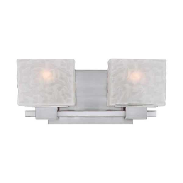 Quoizel Melody 15-in x 6-in Brushed Nickel 2-Light Rectangle Vanity Light
