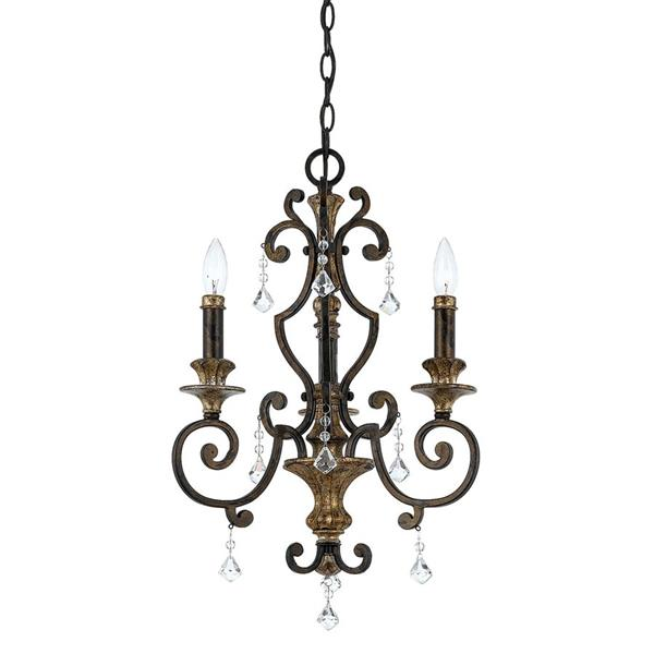 Quoizel Marquette 3-Light Imperial Silver Traditional Etched Glass Candle Chandelier