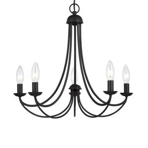 Quoizel Cascadia Lighting Mirren 5-Light Tuscan Brown Traditional Candle Chandelier
