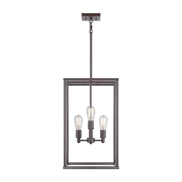 Quoizel New Harbor 23.5-in 6-Light Imperial Silver Transitional Cage Chandelier