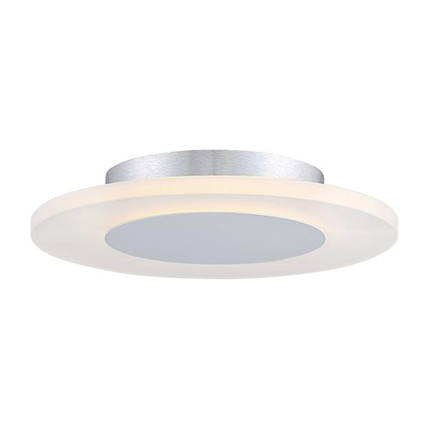 Quoizel Platinum Aglow 11.75-in W White Lustre LED Flush Mount Light