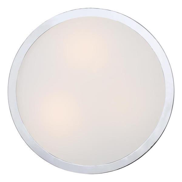 Quoizel Platinum Alexa 3-Light Polished Chrome 14-in x 14-in x 8-in Semi-Flush Mount