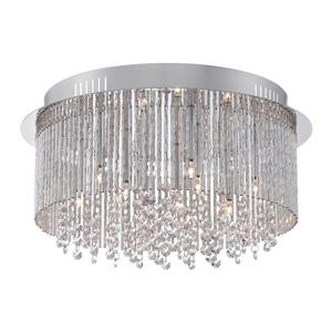 Quoizel Countess 16.5-in W Polished Chrome Crystal Flush Mount