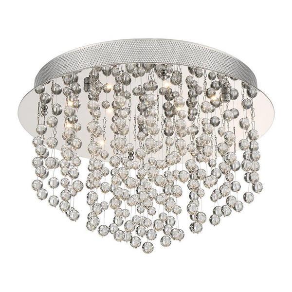 Quoizel Highrise 15-in W Polished Chrome Crystal Accent LED Flush Mount Light