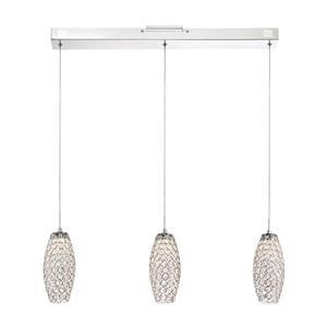 Quoizel Platinum Collection Infinity 31-in Polished Chrome Glamorous 3-Light LED Pendant Lighting