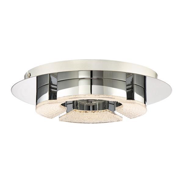 Quoizel Platinum 11.75-in W Polished Chrome LED Flush Mount Light