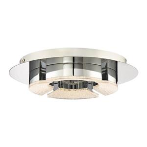 Quoizel Platinum 11.75-in W Polished Chrome LED Flush Mount Light