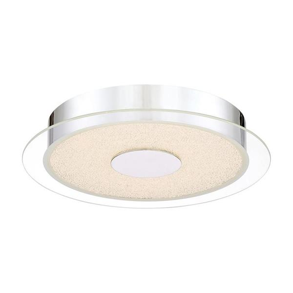 Quoizel Platinum 13.75-in W Polished Chrome LED Flush Mount Light