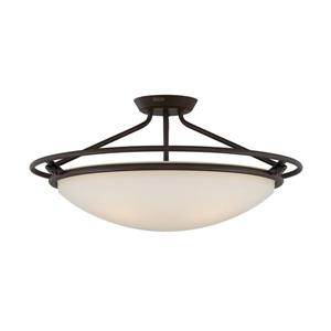 Quoizel 3-Light Bronze 25-in x 25-in x 12-in Semi-Flush Mount