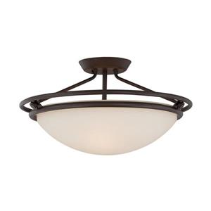 Quoizel 3-Light Bronze 20-in x 20-in x 11-in Semi-Flush Mount