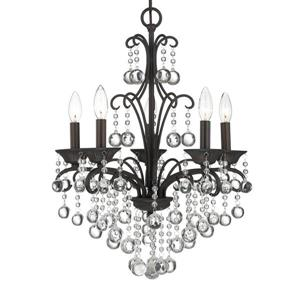 Quoizel Carrabelle  23-in 3-Light Heirloom Traditional Draped Chandelier