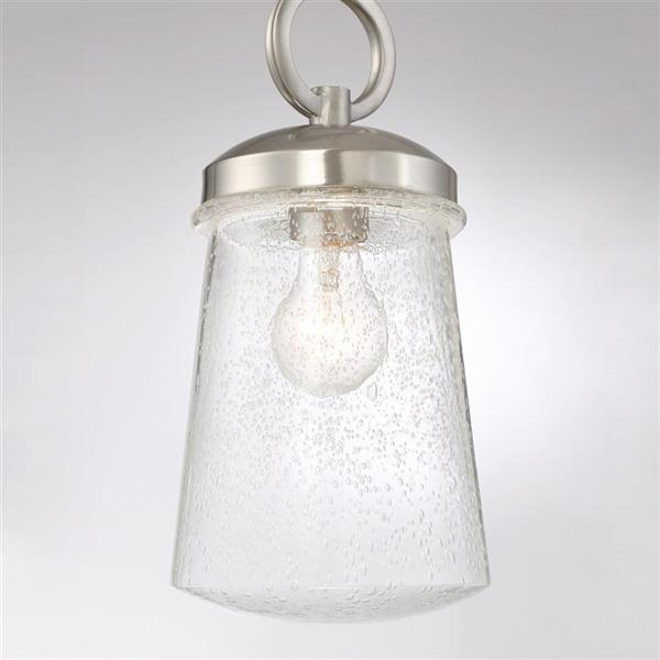 Quoizel Antero 6-in Polished Nickel Industrial Rod Hung Mini Pendant Lighting