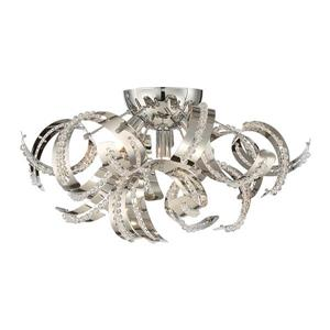 Quoizel Ribbons 4-Light Crystal Chrome 16-in x 16-in x 9-in Semi-Flush Mount