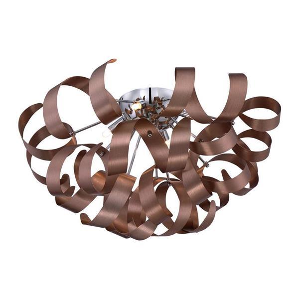 Quoizel Ribbons 22-in W Millenia Flush Mount Light