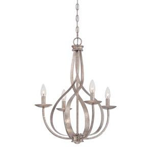 Quoizel Serenity Rustic Antique Bronze 24-in 4-Light Modern Contemporary Candle Chandelier