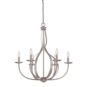 Quoizel Serenity Imperial Silver 27.5-in 5-Light Modern Contemporary Candle Chandelier