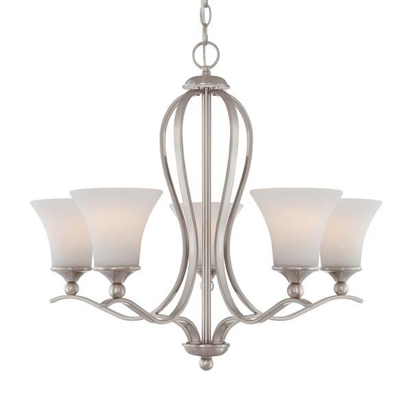 Quoizel Sophia Nickel 23-in 12-Light Imperial Silver Modern/Contemporary Shaded Chandelier
