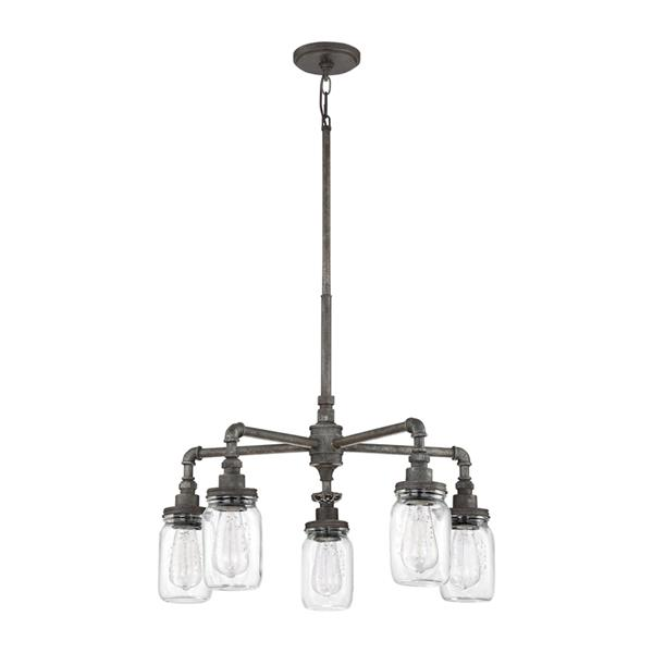 Quoizel Squire Antique Brown 23-in 8-Light Malaga Transitional Shaded Chandelier