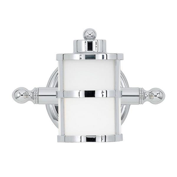 Quoizel Cascadia Lighting Tranquil Bay Polished Chrome Cylinder 1-Light Bathroom Vanity Light