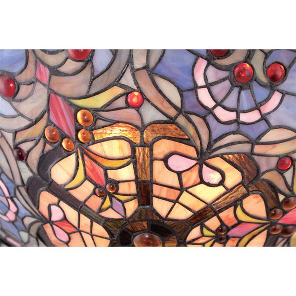 Quoizel Tiffany 2-Light Bronze 17-in x 17-in x 7-in Semi-Flush Mount