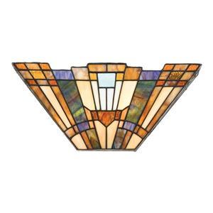 Quoizel Inglenook 16-in 1 Light Tiffany-Style Pocket Wall Sconce