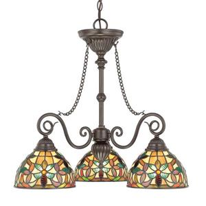 Quoizel Kami 48-in Imperial Bronze 5-Light Traditional Shaded Chandelier