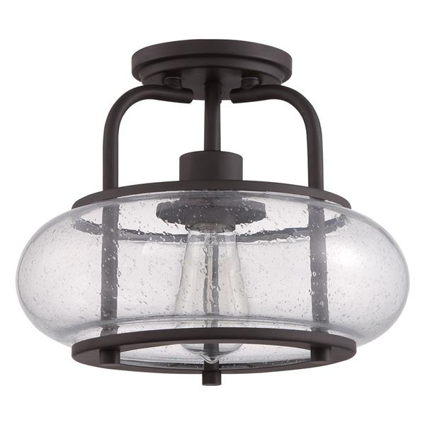 Project Source 6-Pack 10-in W Bronze Glass Standard Ceiling Flush Mount Light