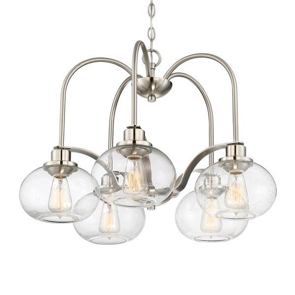 Quoizel Trilogy 48-in Western Bronze 6-Light Transitional Shaded Chandelier