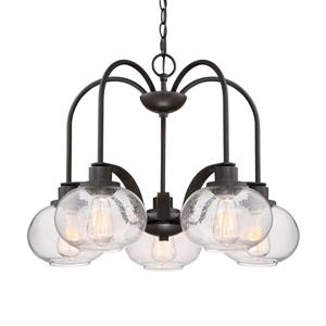 Quoizel Trilogy 48-in Italian Fresco 5-Light Modern Contemporary Shaded Chandelier